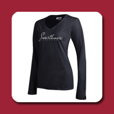 Swarthmore black long sleeved shirt