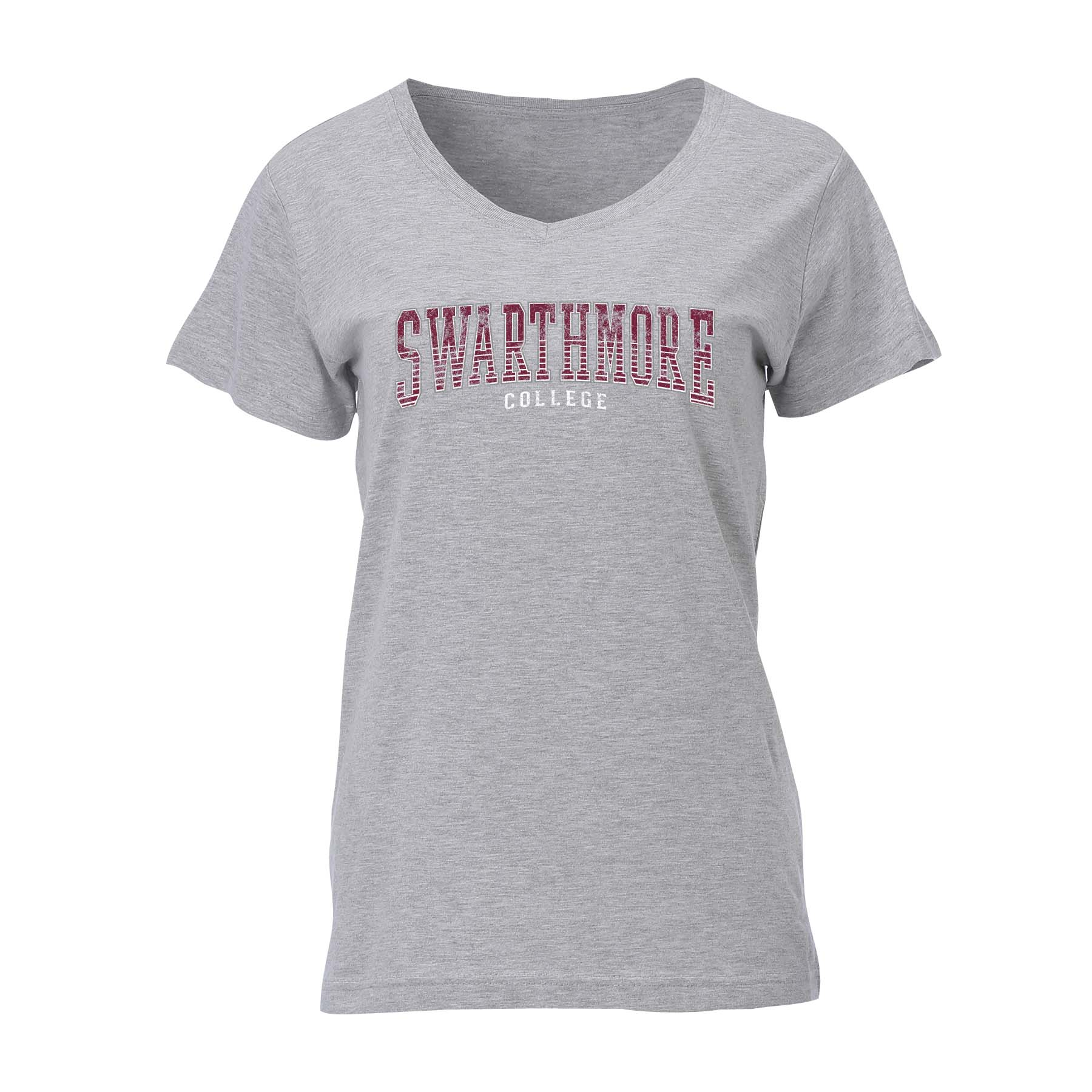 WOMENS GREY V-NECK