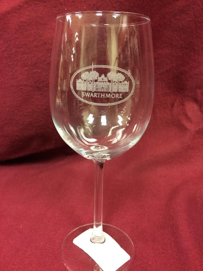 Image For WINE GLASS ETCHED PARRISH 16 oz.