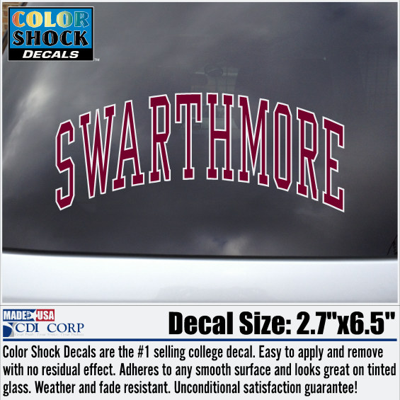 Image For Decal Swarthmore Arched