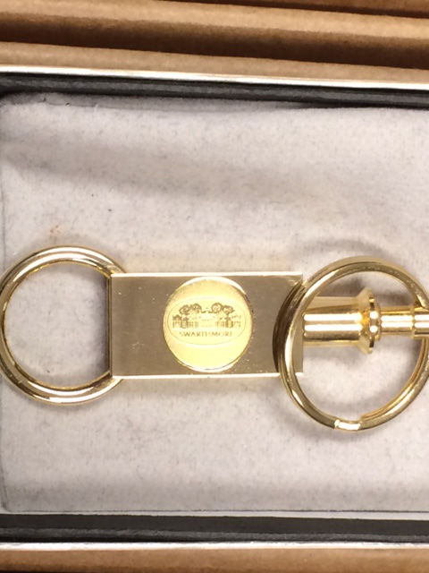 Image For Two-Section Gold Key Ring