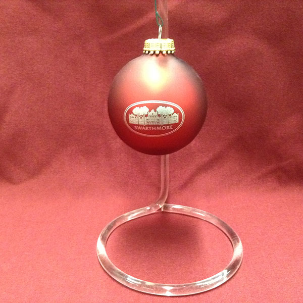 Image For Garnet Matte ornament glass ball with Parrish Hall