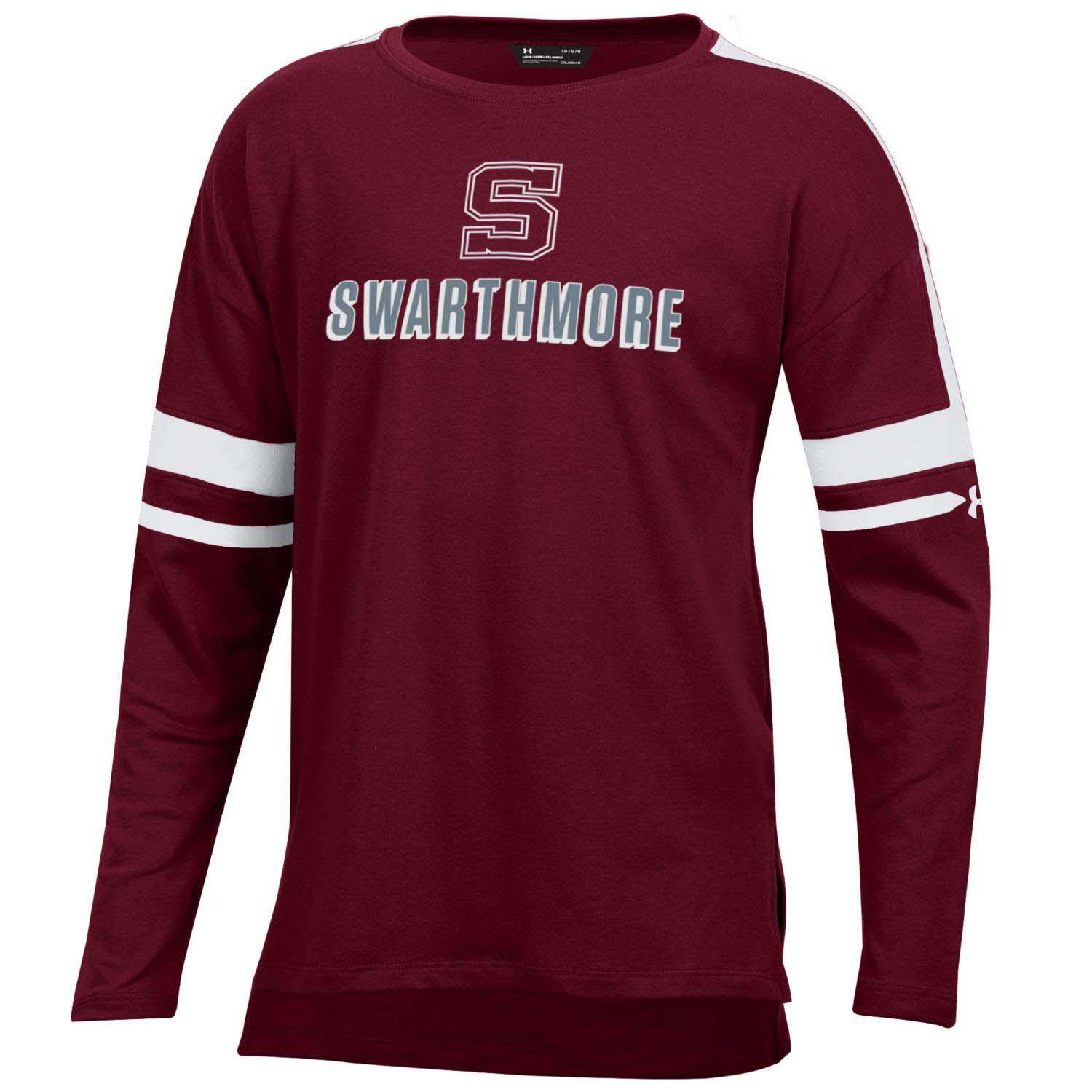 Image For GIRLS LS TEE SMU GARNET