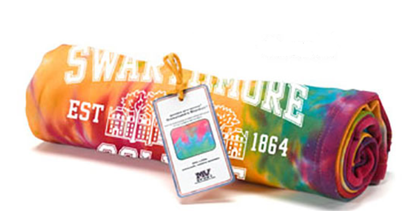 Cover Image For Rainbow Sweatshirt Blanket  Parrish Hall
