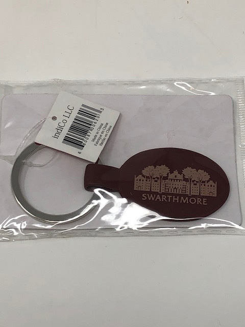 Image For Parrish Hall oval metal key chain