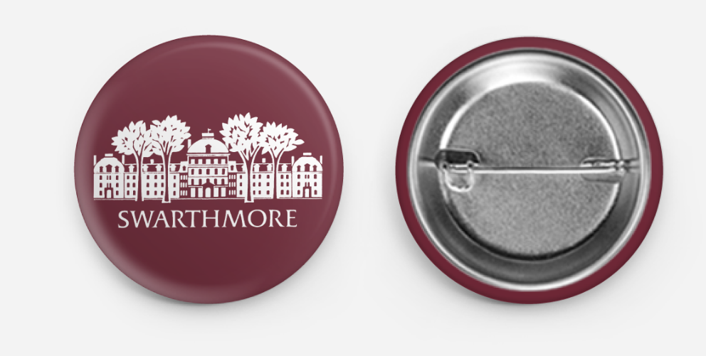 "Image For Swarthmore Pins 1.5"" x 1.5"""