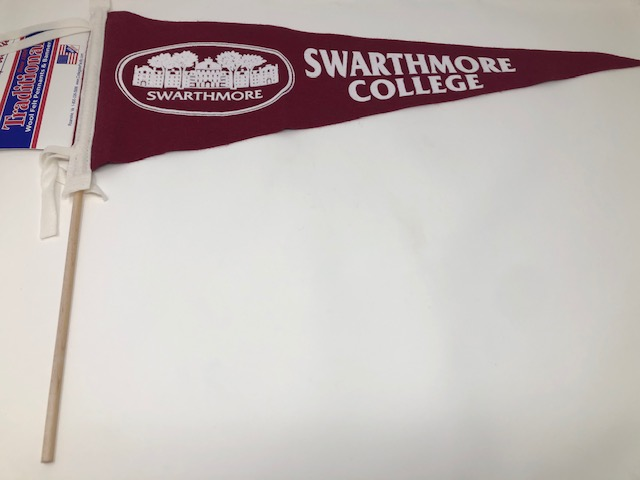 "Cover Image For Felt Pennant 9"" x 24"" with Stick and Parrish Hall logo"