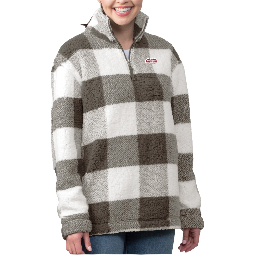 Image For Boxercraft Plaid 1/4 zip Sherpa with Parrish Hall