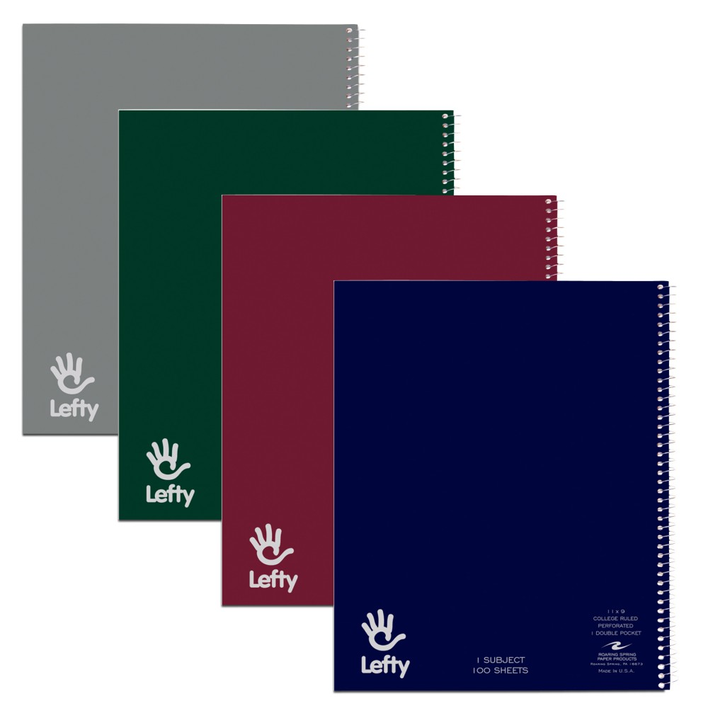 Image For Lefty 1 Subject Notebook