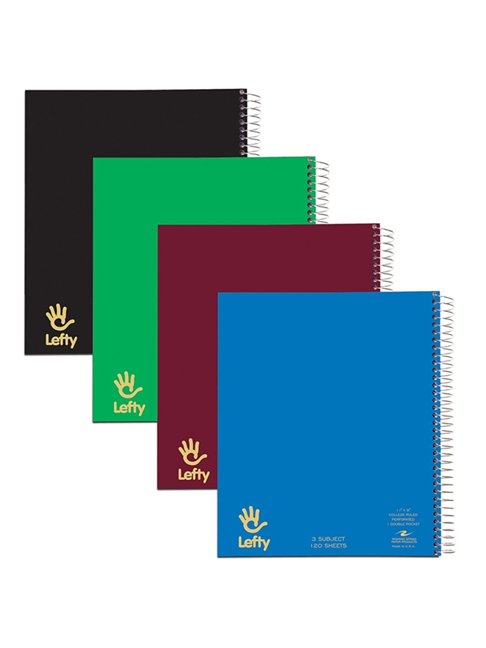 Image For Lefty 3 Subject Spiral Notebook