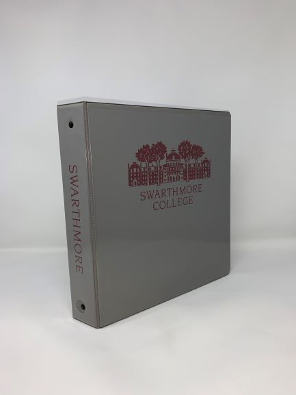 Image For Binder Gray imprinted 1.5""