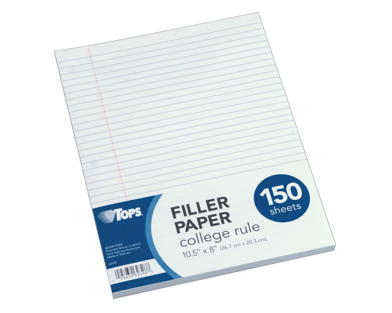 "Image For Filler Paper 10-1/2"" x 8-1/2"""