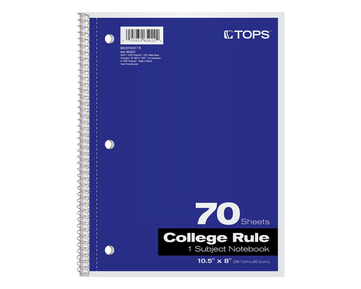 Image For Oxford 1-Subject Notebook