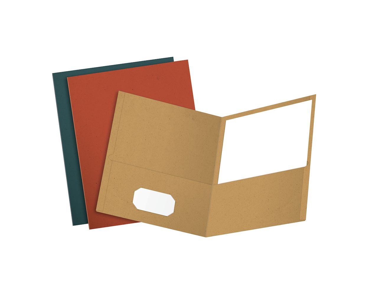 Image For Earthwise by Oxford Twin Pocket Folders