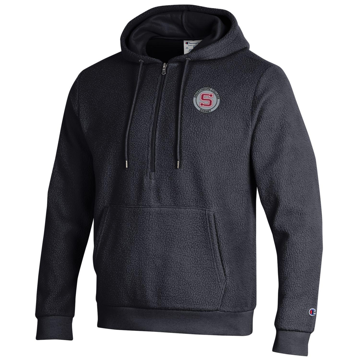 Image For Champion Sherpa 1/4 zip Hoodie- Black
