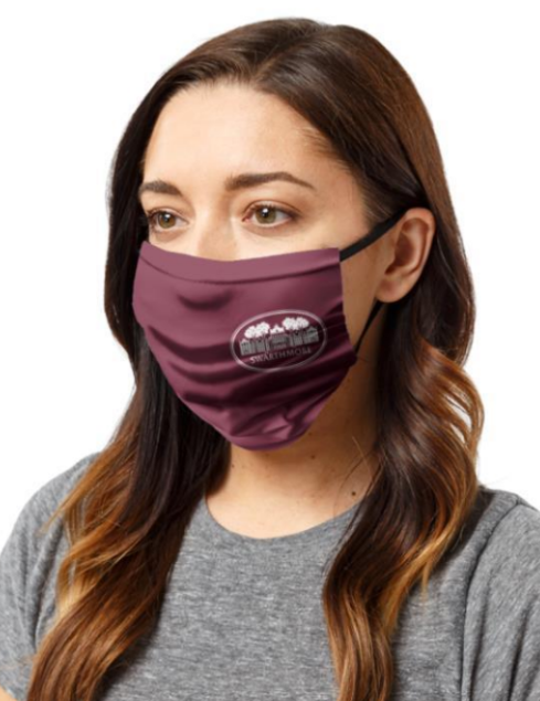 "Image For Three Layer ""Parrish Hall"" Face mask - Garnet or Black"