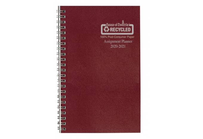 Image For Leatherette Weekly Academic Assignment Book Planner