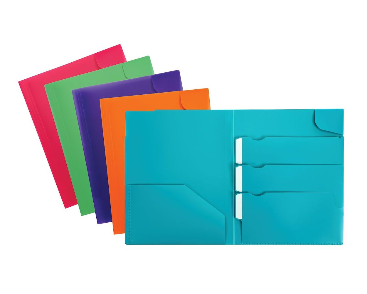 Image For Oxford Divide-It-Up 4-Pocket Poly Folder