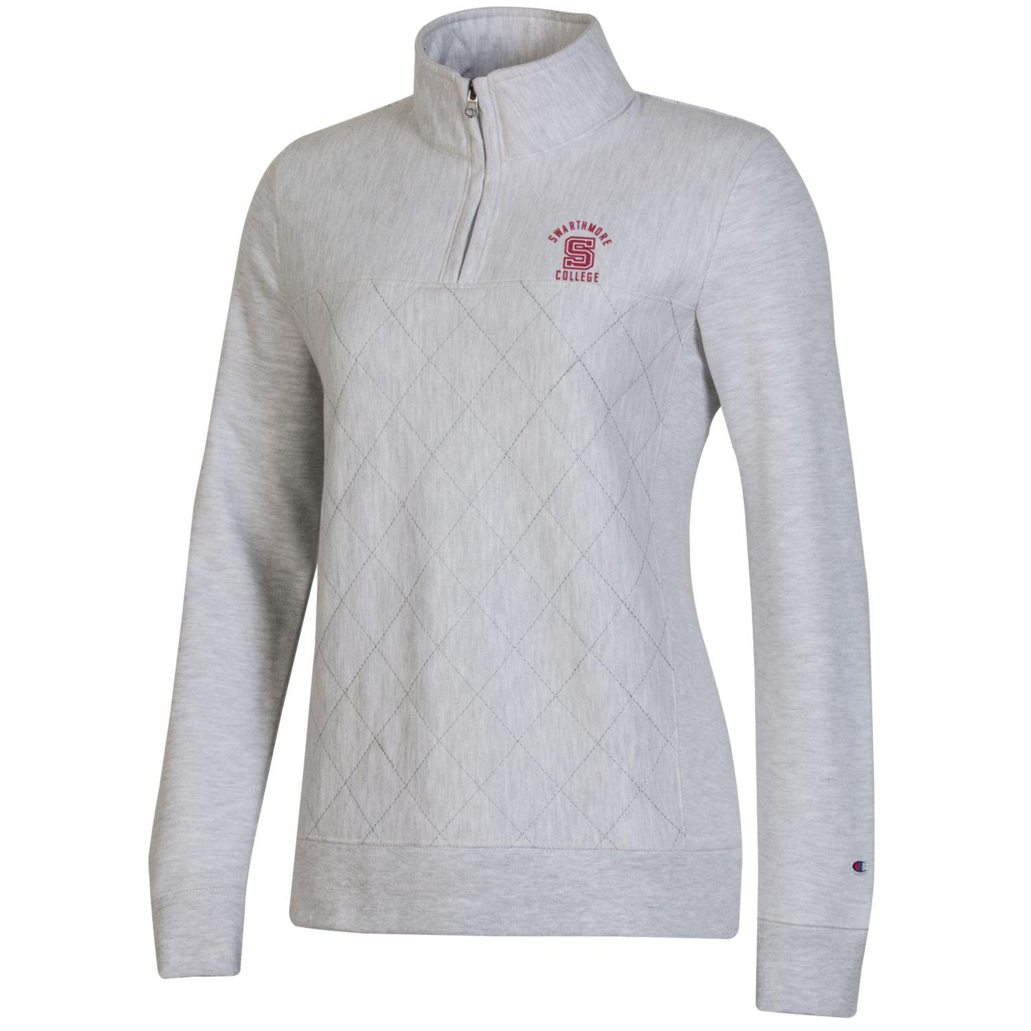Image For Champion Women's Reverse Weave Quilted 1/4 Zip