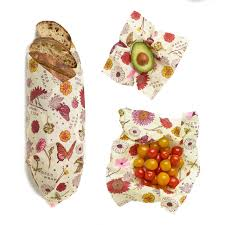 Image For Bee's Wrap 3 pack asst. plant based food wrap