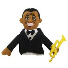 Image For Louis Armstrong magnetic personality finger puppet