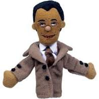 Image For James Baldwin magnetic personality finger puppet