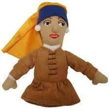 Image For Girl with a Pearl Earring Magnetic Finger Puppet