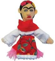 Image For Frida Kahlo magnetic personality finger puppet