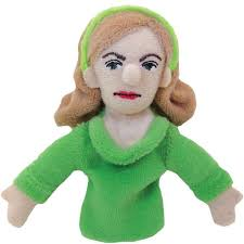 Image For Sylvia Plath magnetic personality finger puppet