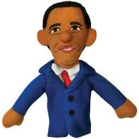 Cover Image For Barack Obama magnetic personality finger puppet