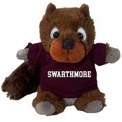 Image For Cheeky Plush Squirrel with Swarthmore t-shirt