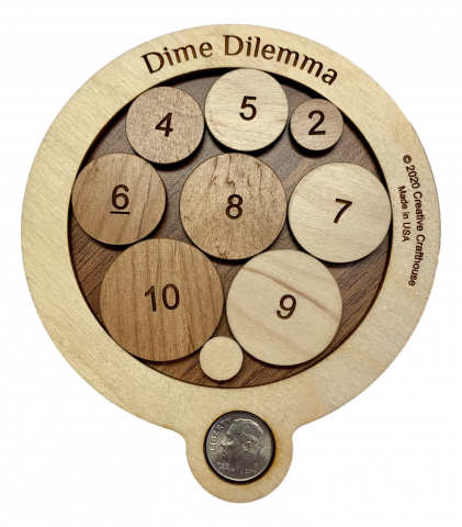 Image For Dime Dilemma wood Puzzle