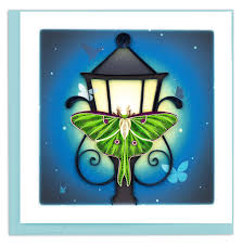 Cover Image For Luna Moth Quilling Card
