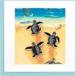 Cover Image For Sea Turtle Hatchlings Quilling Card