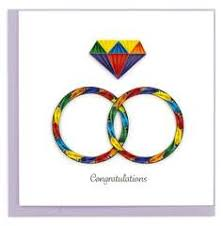 Cover Image For Rainbow Rings Quilling Card