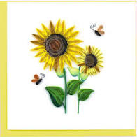 Cover Image For Sunflower Quilling Card
