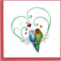 Cover Image For Love Birds Quilling Card