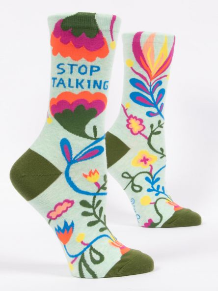 Cover Image For Women's Crew Socks stop talking