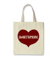 Image For Tote Bag with Swarthmore heart