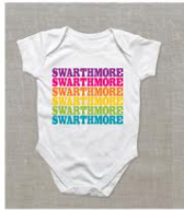 Image For Baby Onesie with Rainbow Swarthmore