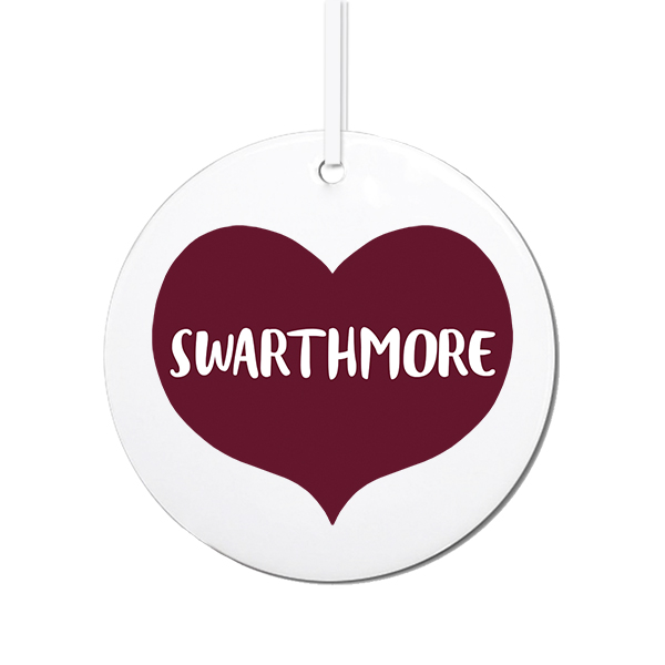 Image For Swarthmore Heart Ornament