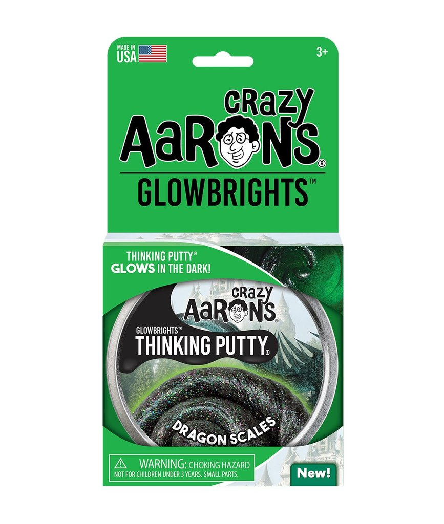 Image For Crazy Aarons Glowbrights Dragon Scales Thinking Putty