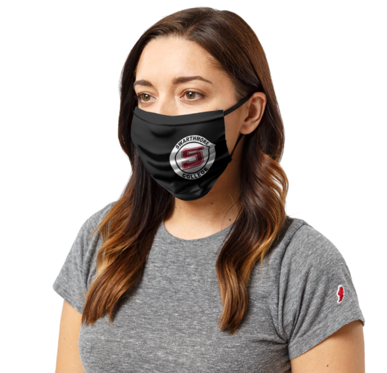 "Image For Three Layer ""Athletics S logo "" Face mask BLACK"