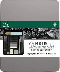Image For Pentalic Noir Drawing Set 27 pc