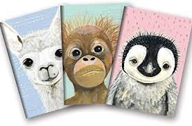 Image For Notebook Baby Animals 3 pk